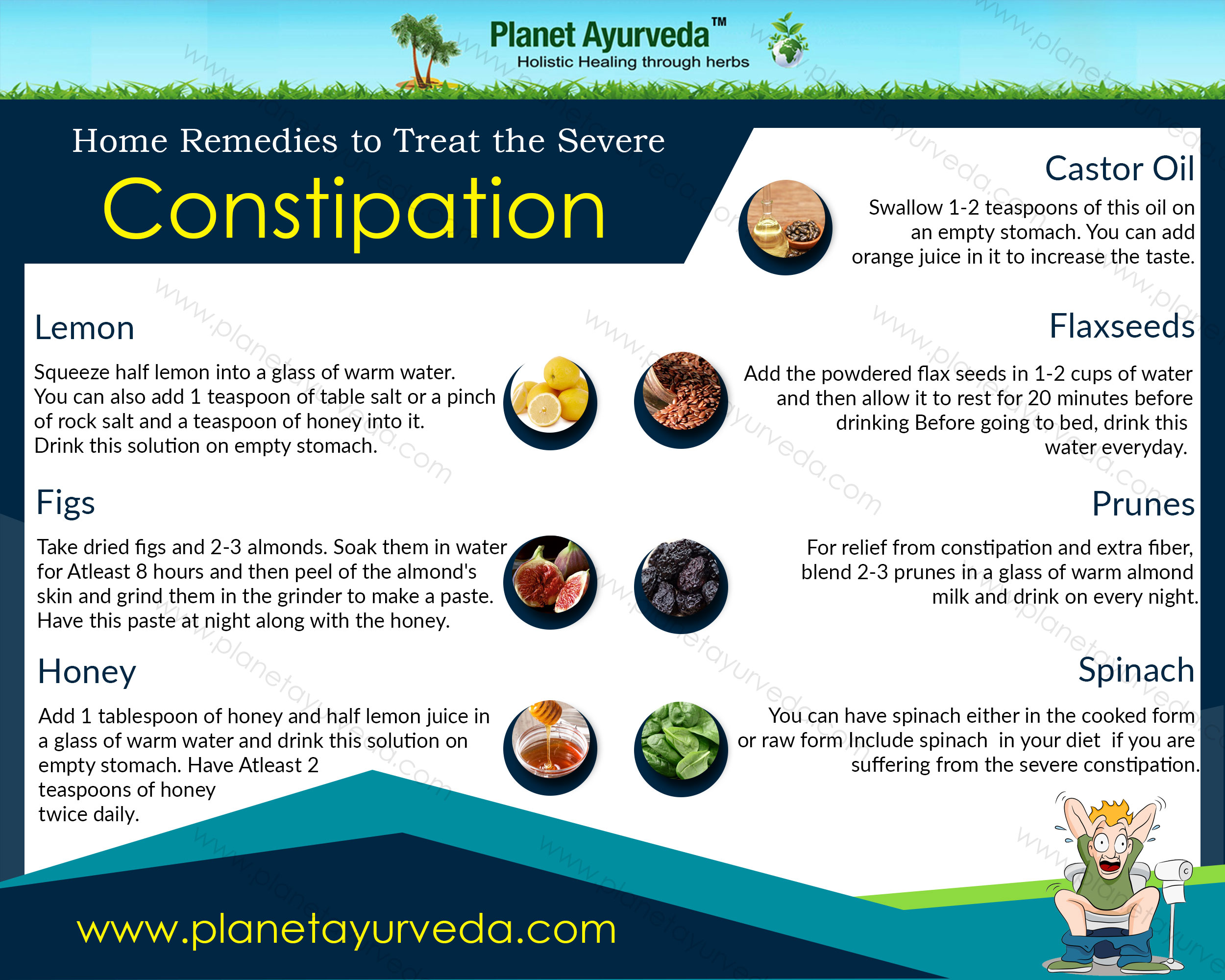 Home Remedies to Treat the Severe Constipation