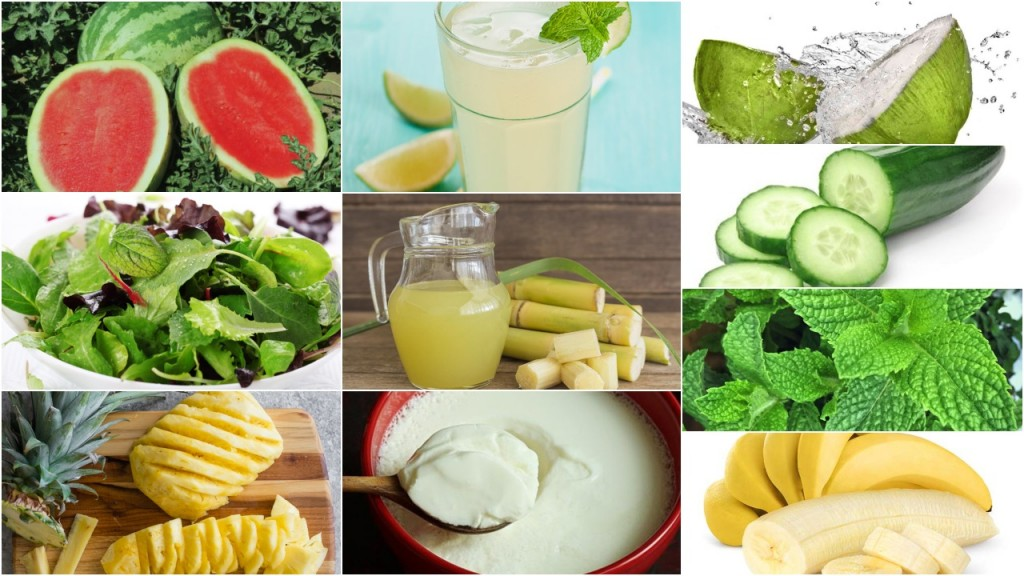 cooling diet in summers